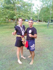 Com a Mestre (Brabajarn), em Itália Marica Vallone